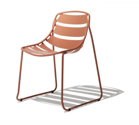Sleigh Base Steel Patio Chair Available Online Furniture Store