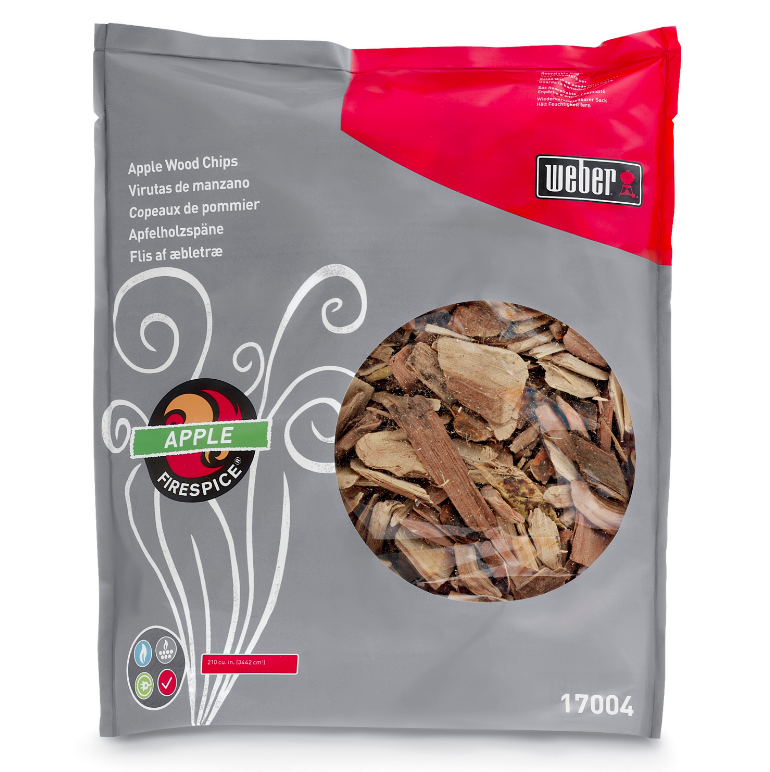 3 lb Bag Weber Apple Wood Chips For Grilling Backyard Barbecue