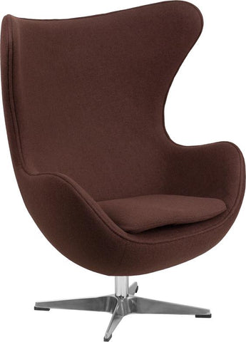 Arne Jacobsen Replica Brown Wool Fabric Egg Chair