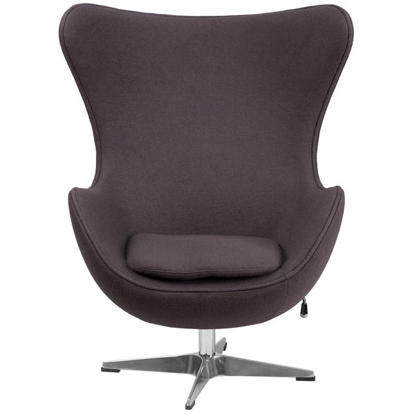Arne Jacobsen Replica Gray Wool Fabric Egg Chair