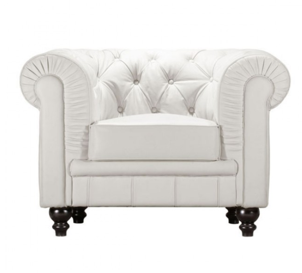 Aristocrat Leather Armchair Tufted Armchair For Sale Online Furniture Store