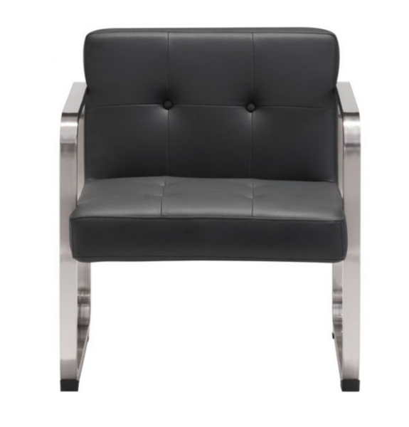 Varietal Black Faux Leather Modern Armchair For Sale Online Furniture Store
