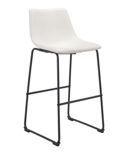 Smart White Bar Chair Faux Leather Chairs For Sale Online Furniture