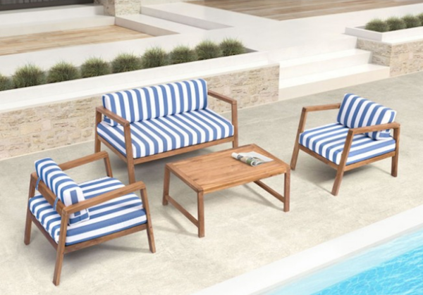 Teak Outdoor Furniture Nautical Themed Furniture Elegant Outdoor Sofa