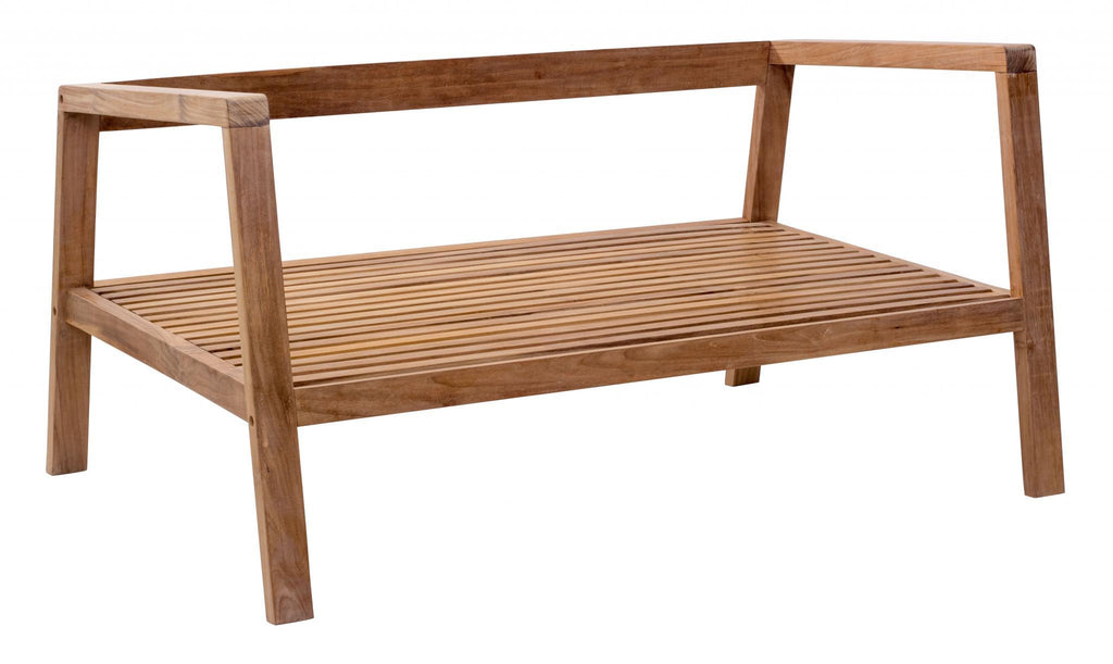 Zuo Modern Teak Wood Outdoor Sofa Nautical Furniture