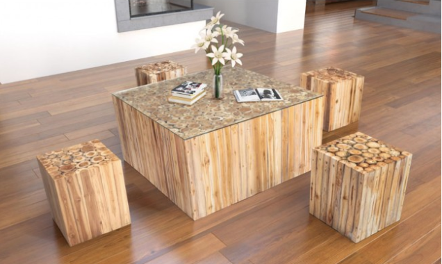 Square Teak Coffee Table Glass Top Buy Online Furniture Store