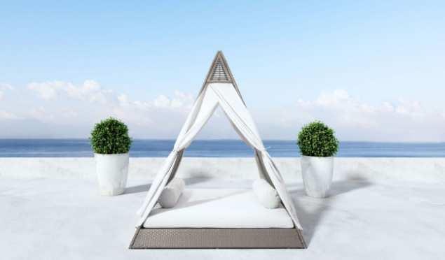 Zuo Modern Albany Outdoor Daybed Commercial Furniture
