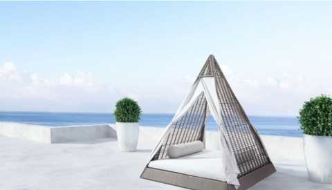 Albany Outdoor Daybeds Triangular Shaped Commercial Outdoor Furniture