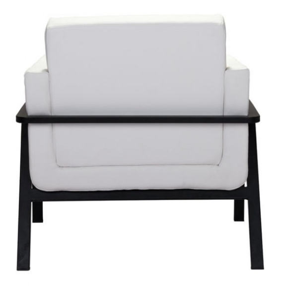 U Shaped Seat White Leather Modern Lounge Chair For Sale Online