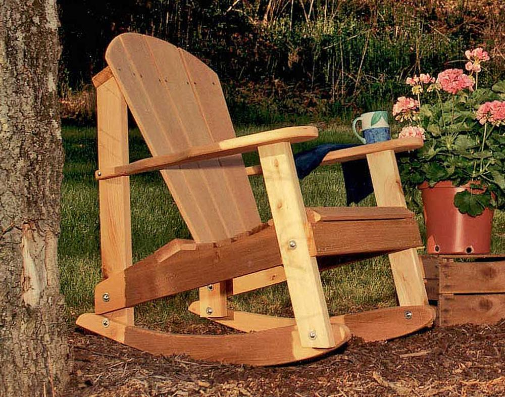 Cedar Adirondack Rocking Chair Red Cedar Furniture