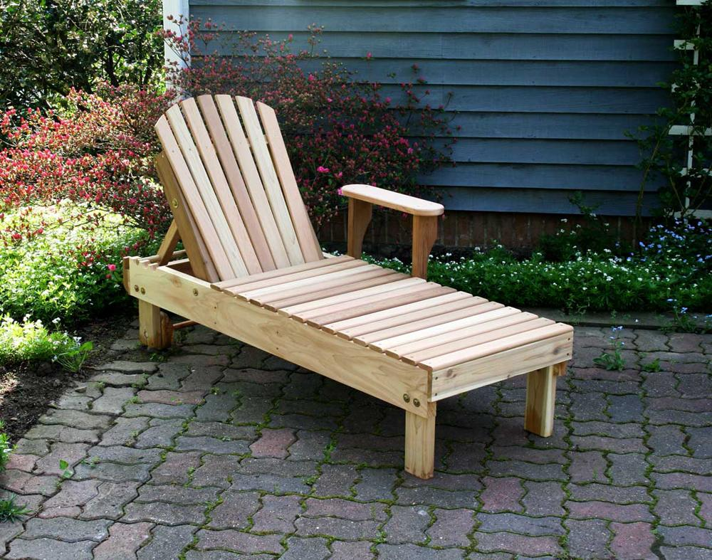 American Forest Cedar Chaise Lounge Red Cedar Furniture