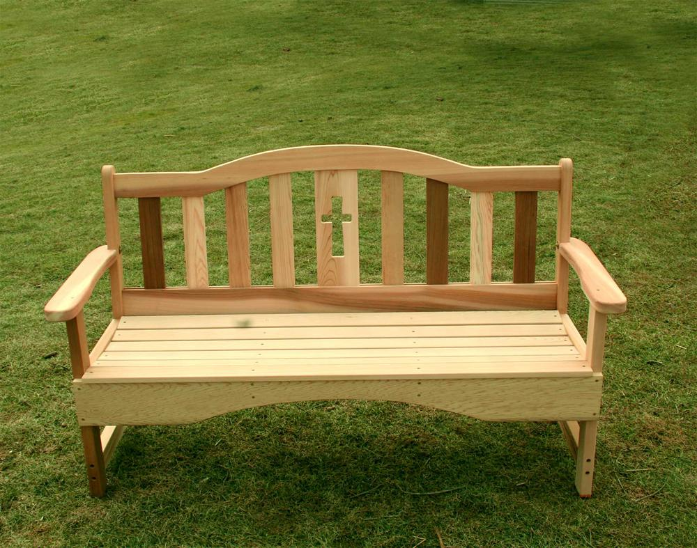 Holy Cross 4 Foot Garden Bench Red Cedar Furniture
