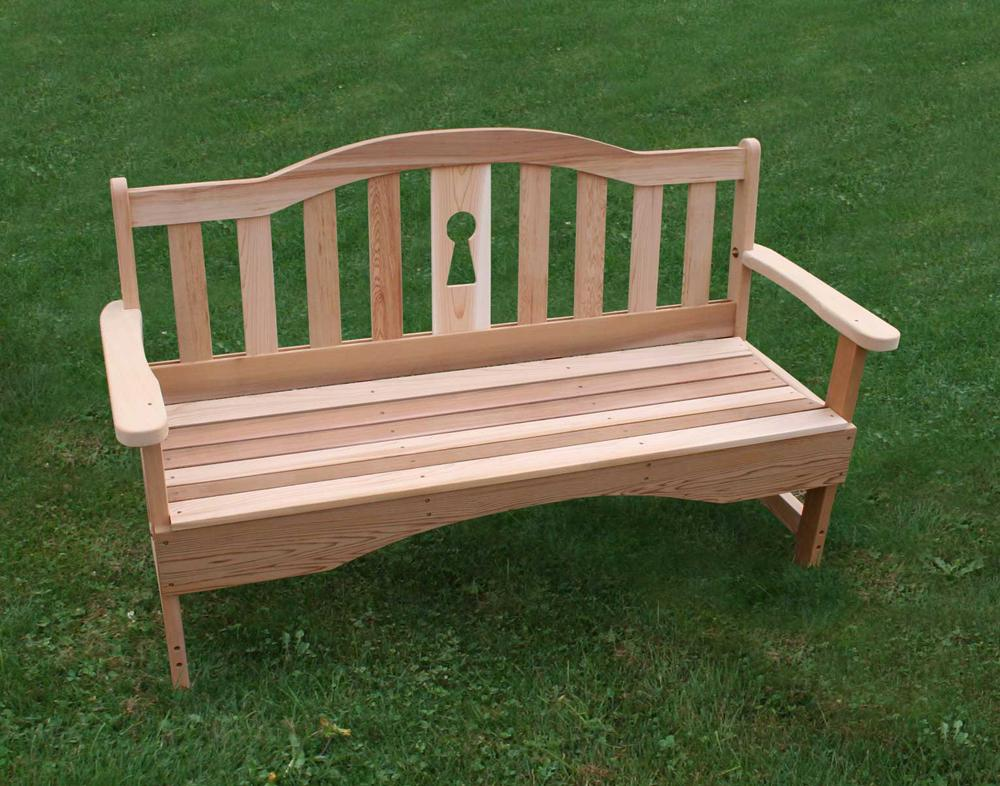 Keyway 4 Foot Garden Bench Red Cedar Furniture