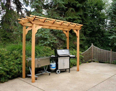 CreekVine Design 4' x 8' Western Red Cedar Wooden Pergola