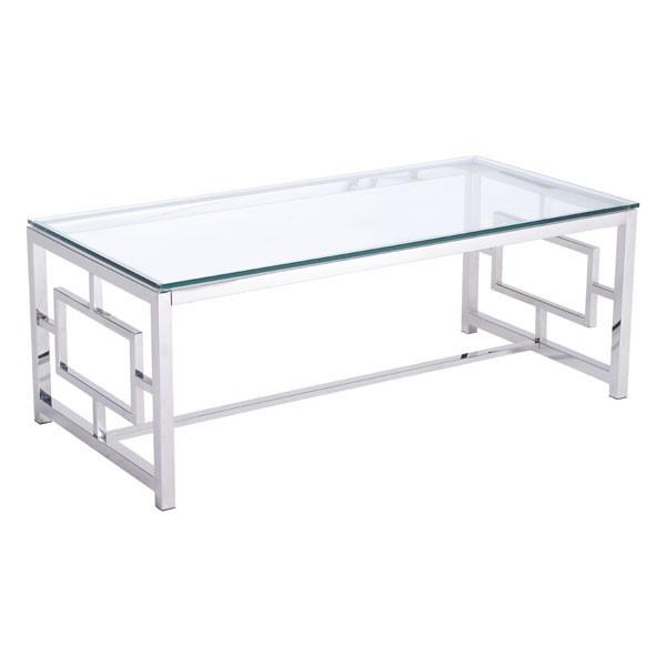 Geranium Stainless Steel Glass Coffee Table Online Furniture Store