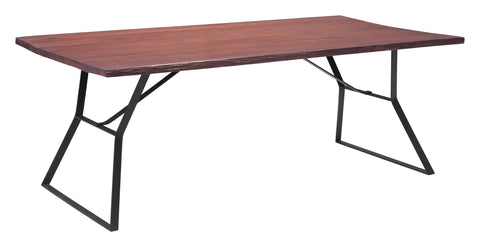 Zuo Modern Omaha Distressed Wood Farmhouse Dining Table