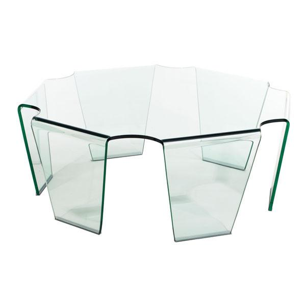 Circuit Chip Round Glass Coffee Table Online Furniture Store