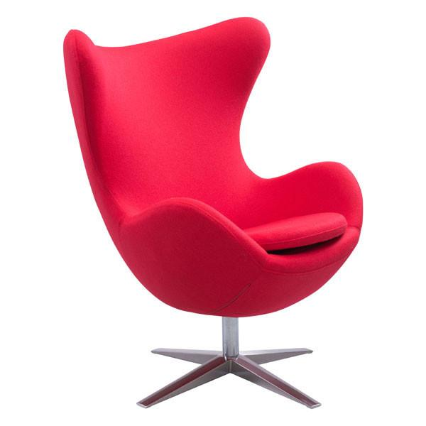 Scoop Seat Red Mid Century Modern Chair For Sale Online