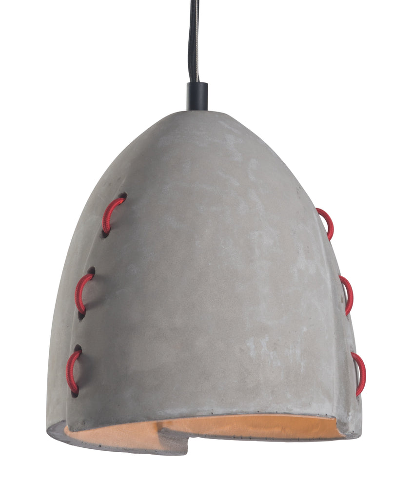 Gray Concrete Like Farmhouse Ceiling Light Confidence Ceiling Lamp