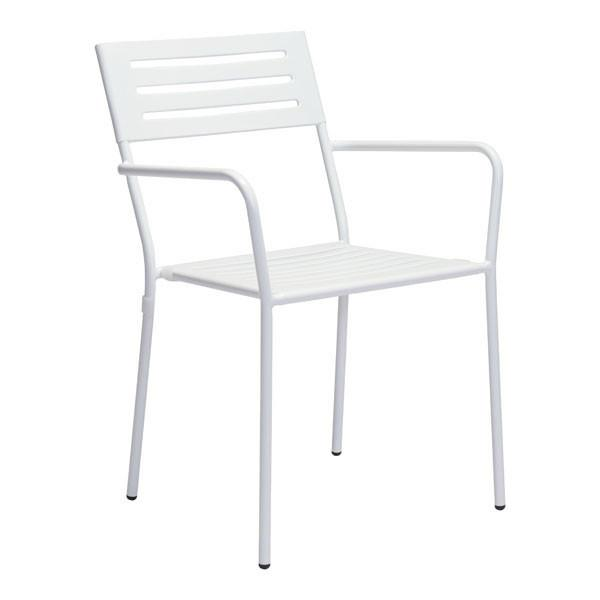 WALD DINING ARM CHAIR WHITE (Set of 2)