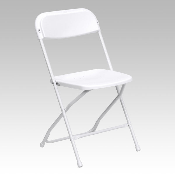 Flash Furniture Hercules White Folding Chair 800 lb Capacity