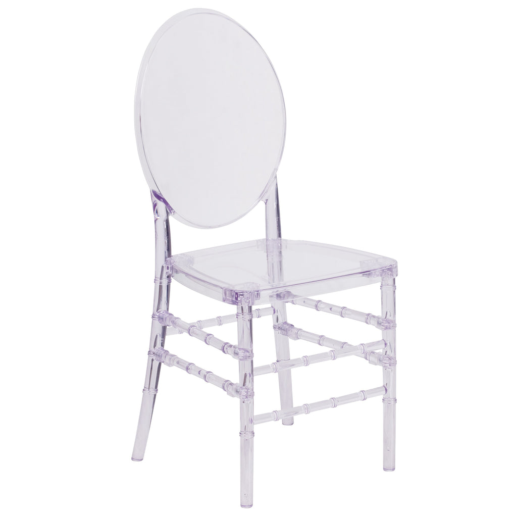 Flash Elegance Crystal Ice Stacking Florence Chair: Clear