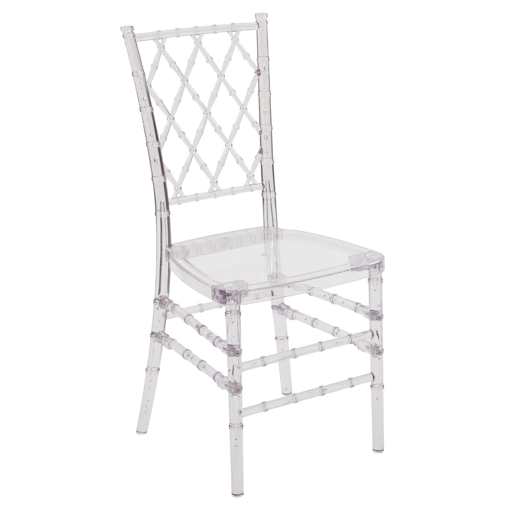 Flash Elegance Stacking Simplicity Chair: Crystal Ice