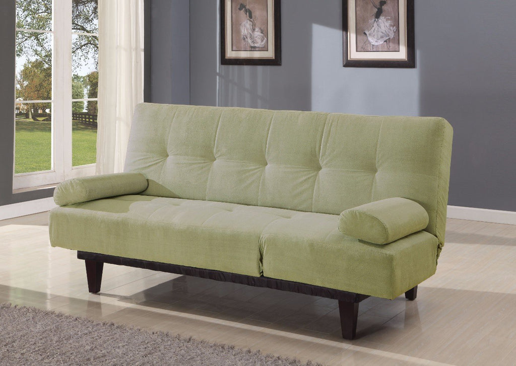 Green Microfiber Sofa Bed