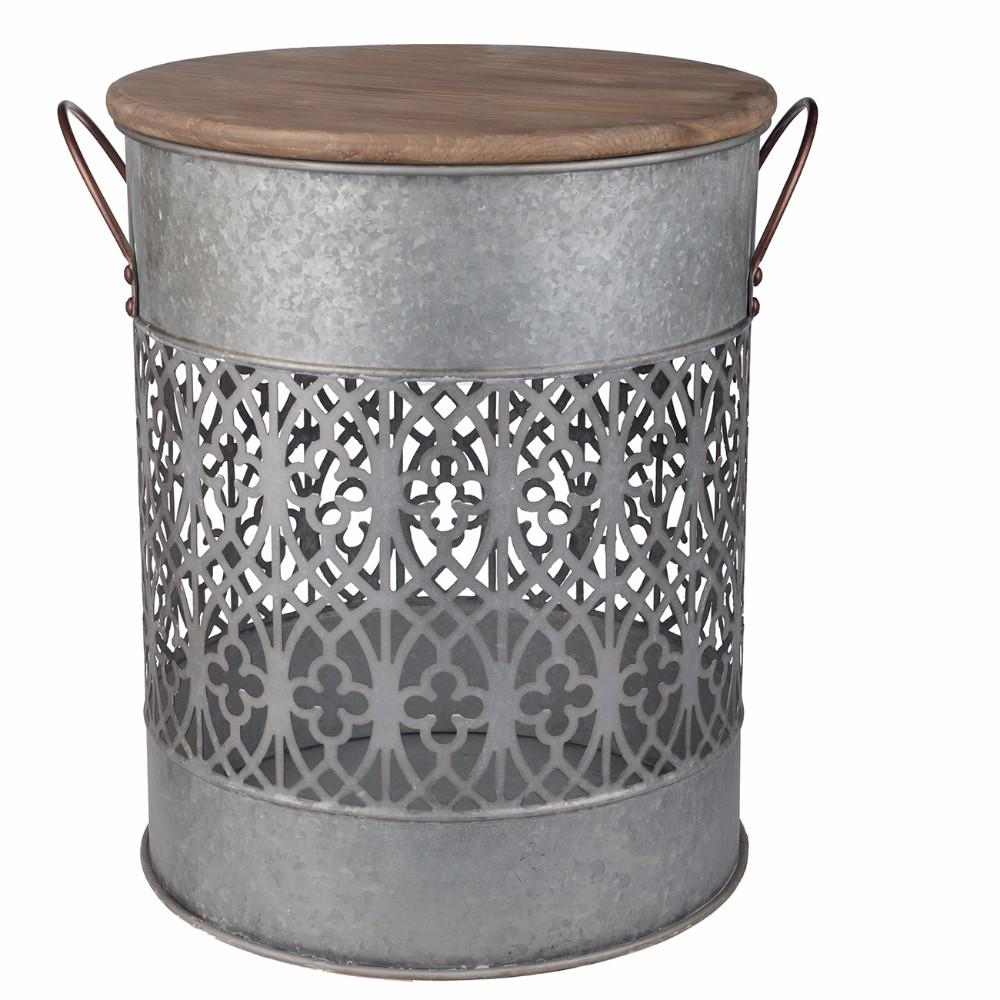 Rustic Metal Bucket Modern Home Decor Item For Sale Online Furniture Store