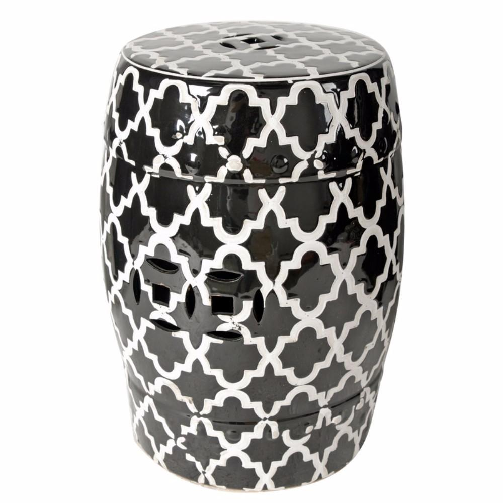 Finley Designed Indoor/Outdoor Patterned Stool