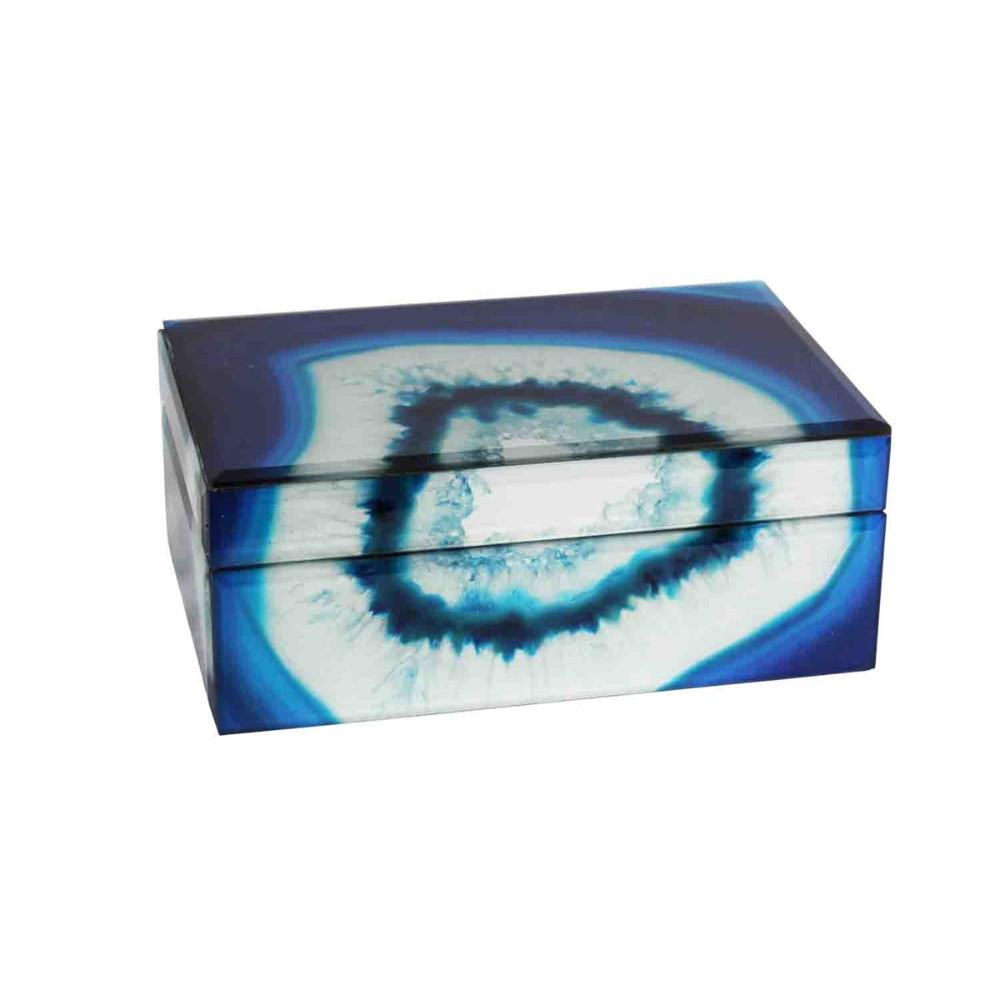 Unbelievable Fanciful Glass & Wood Decorative Box