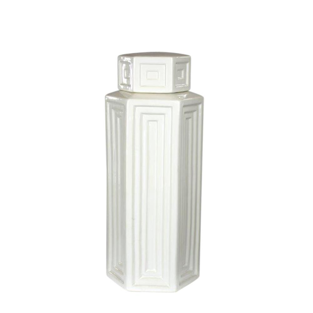 White Ceramic Jar Modern Home Decor Items For Sale Online Furniture