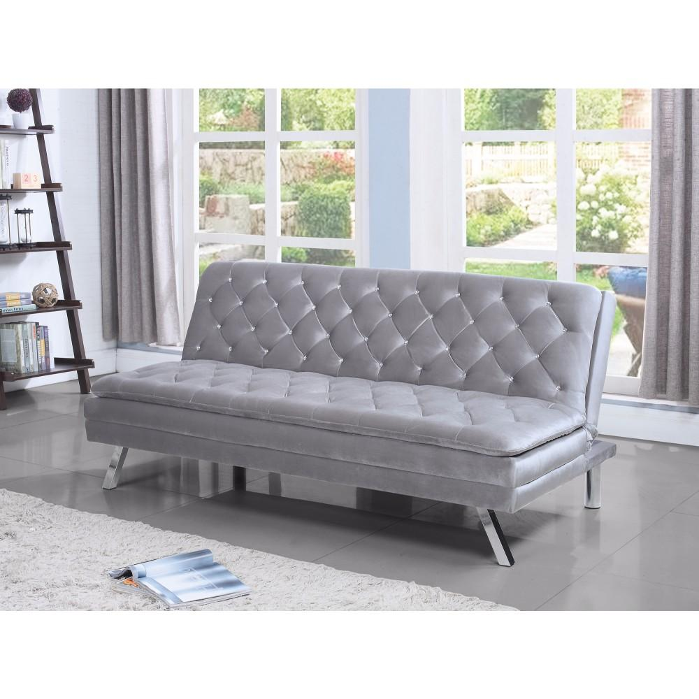 Multi-functional Modern Sofa Bed, Silver