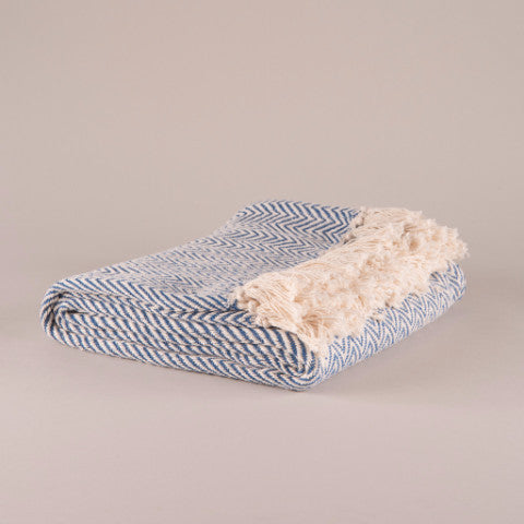 IAN SNOW Ethically sourced fairtrade handmade homeware and gift cotton throw