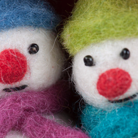 FELTED SNOWMEN DECORATIONS