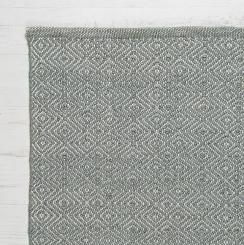 100% RECYCLED PLASTIC BOTTLE RUG - DIAMOND DOVE GREY