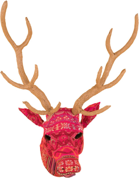 IAN SNOW FAIR TRADE DECORATIVE WALL HANGING STAG