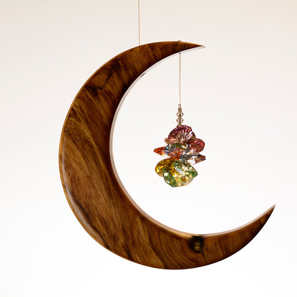 Medium Spalted Holly Moon Suncatcher - ArtwoodIreland - 9