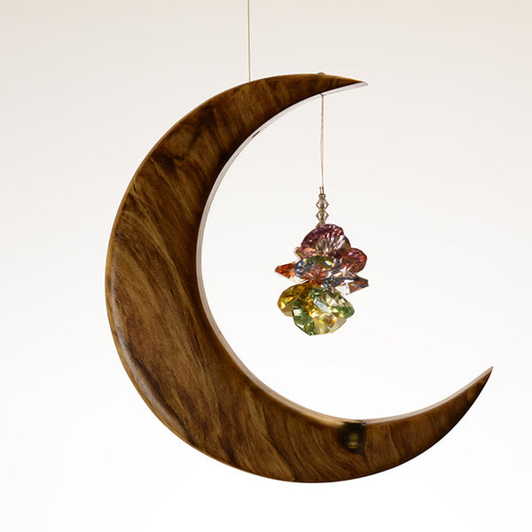 Medium Spalted Holly Moon Suncatcher - ArtwoodIreland - 7