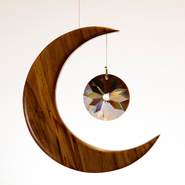 Medium Spalted Holly Moon Suncatcher - ArtwoodIreland - 11