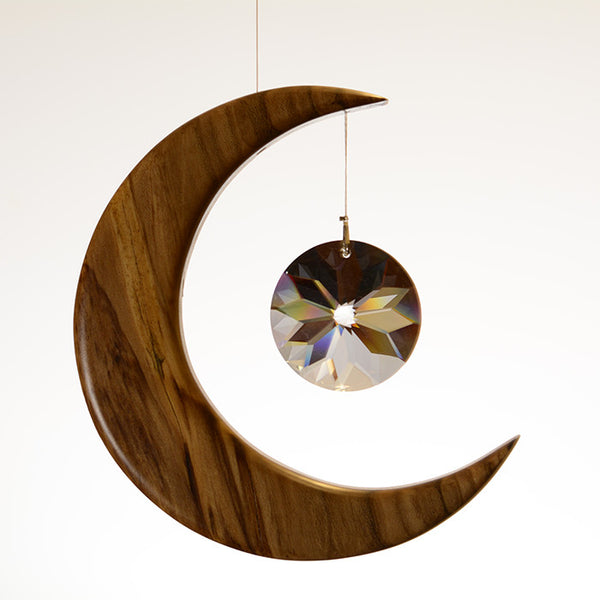 Medium Spalted Holly Moon Suncatcher - ArtwoodIreland - 5