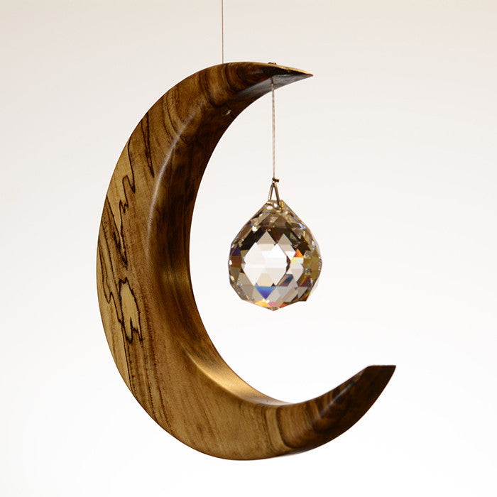 Medium Spalted Holly Moon Suncatcher - ArtwoodIreland - 6