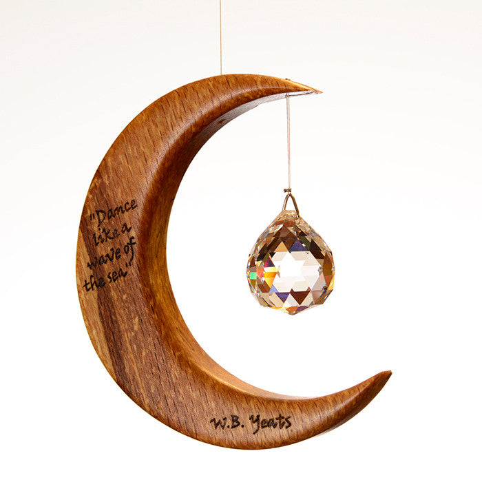 Yeats Quote from The Fiddler of Dooley on Moon Suncatcher - ArtwoodIreland - 2