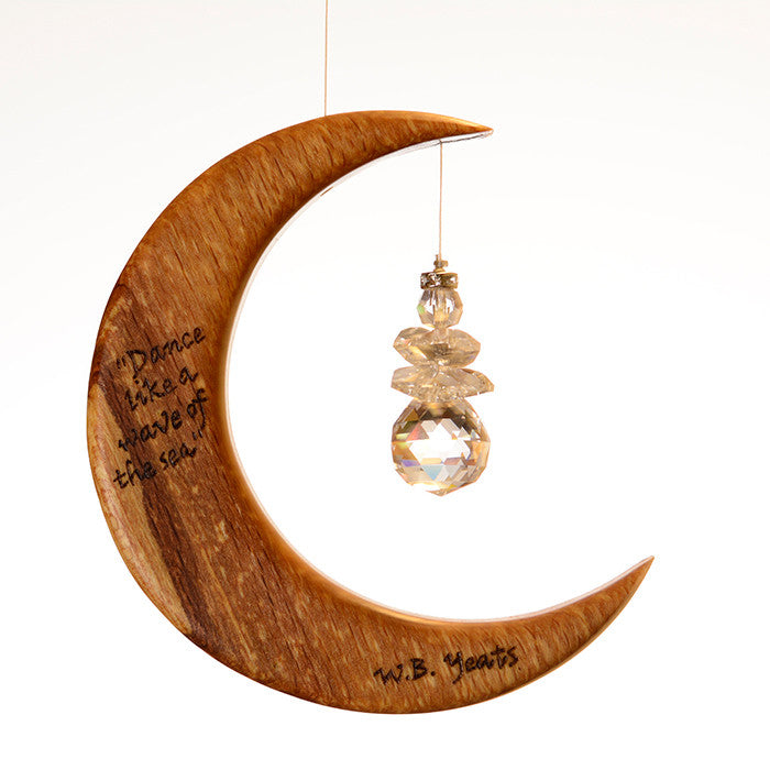 Yeats Quote from The Fiddler of Dooley on Moon Suncatcher - ArtwoodIreland - 4