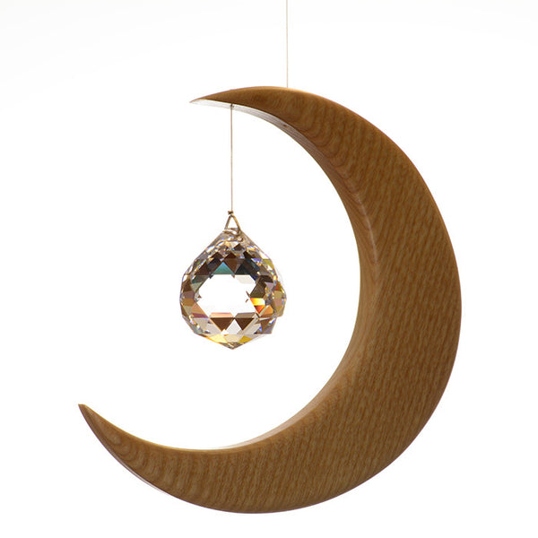 Large Ash Wood Moon Suncatcher - ArtwoodIreland - 1