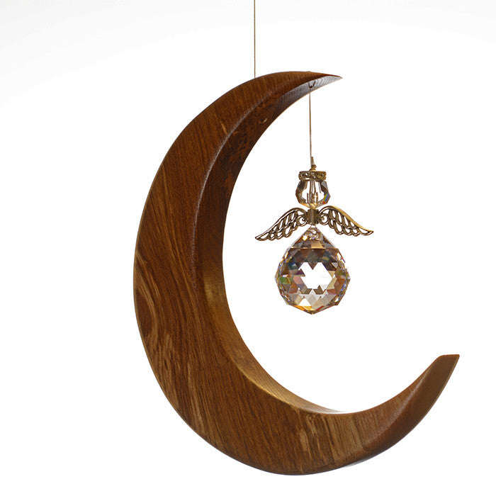 Large Olive Ash Moon Suncatcher - ArtwoodIreland - 5