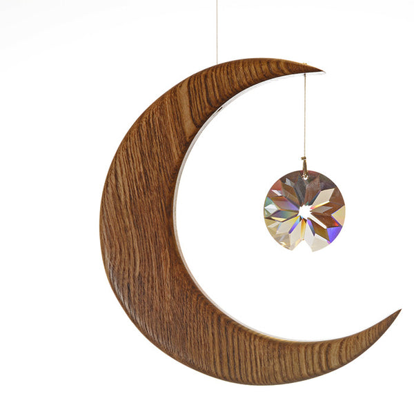 Large Olive Ash Moon Suncatcher - ArtwoodIreland - 2