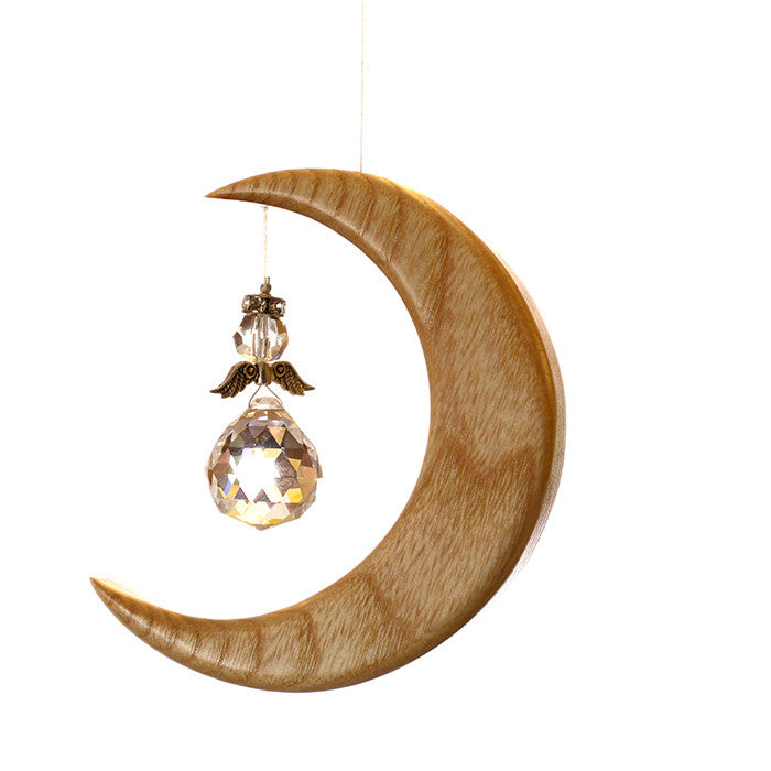 Small Ash Moon Suncatcher Gift - ArtwoodIreland - 1
