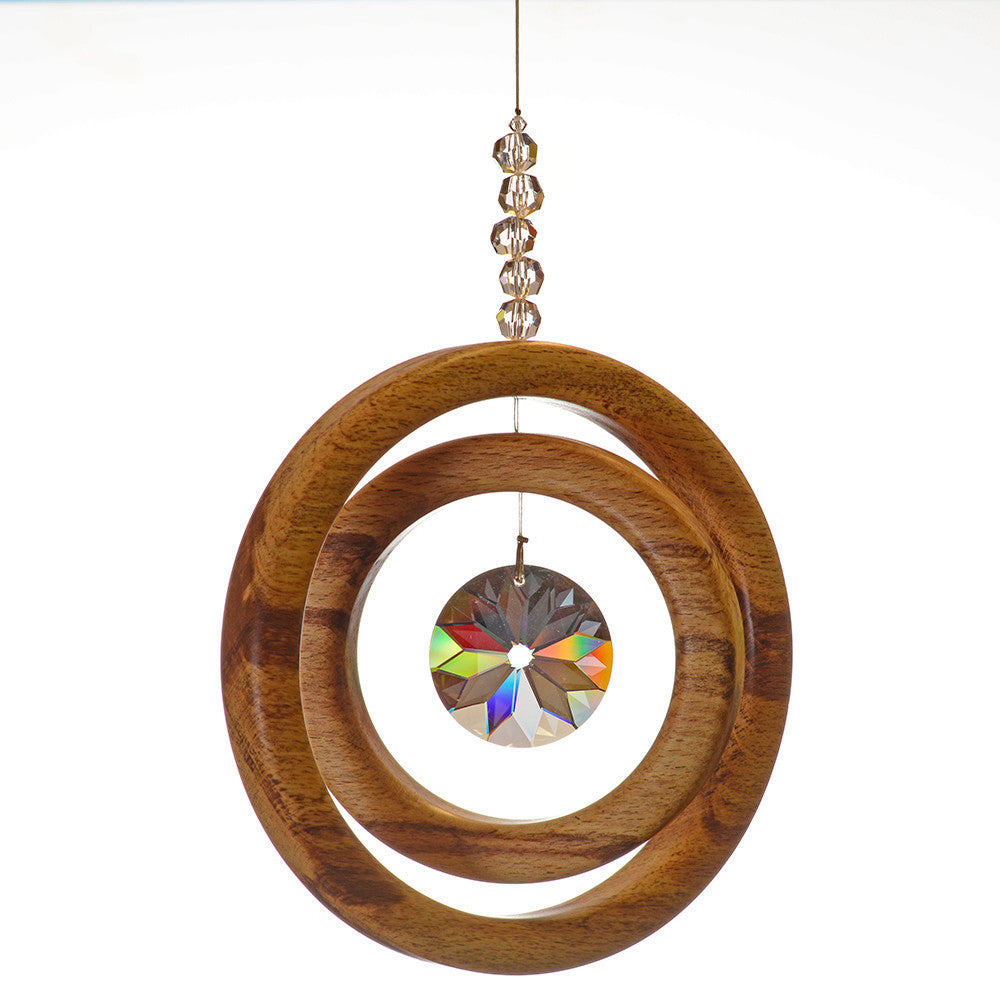 2 Ring Spalted Beech Suncatcher - ArtwoodIreland - 1