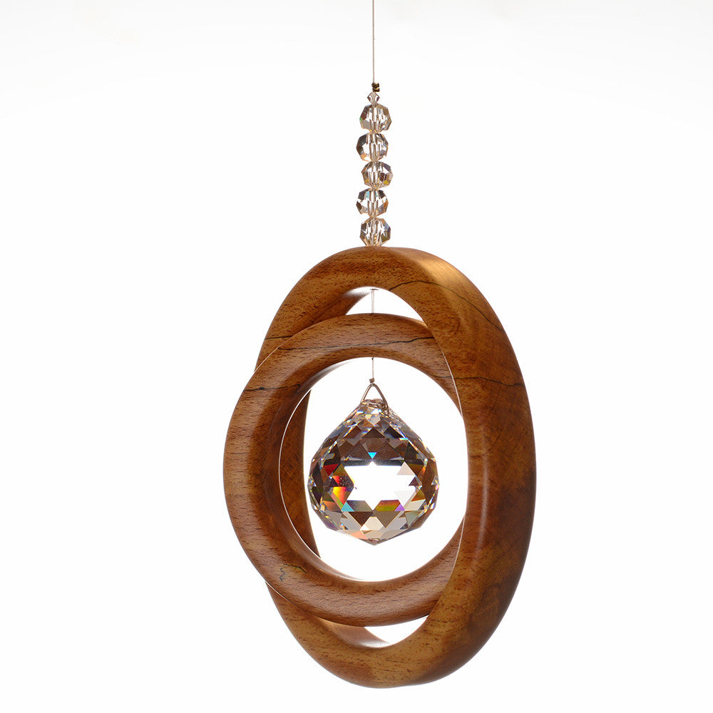 2 Ring Spalted Beech Suncatcher - ArtwoodIreland - 2